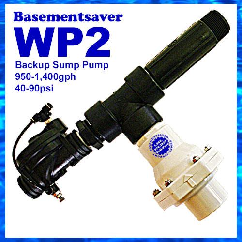 Basementsaver WP2 Water Powered Backup Sump Pump