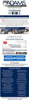 Adams Door Company Responsive Website Design
