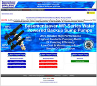 Basementsaver Sump Pumps & Backup Sump Pumps e-Commerce Website